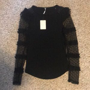 New free people long sleeve shirt